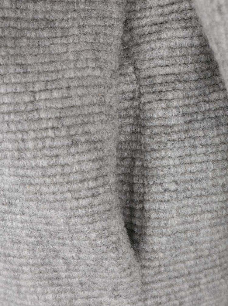 Sivý melírovaný dámsky kabát Bench Aptness