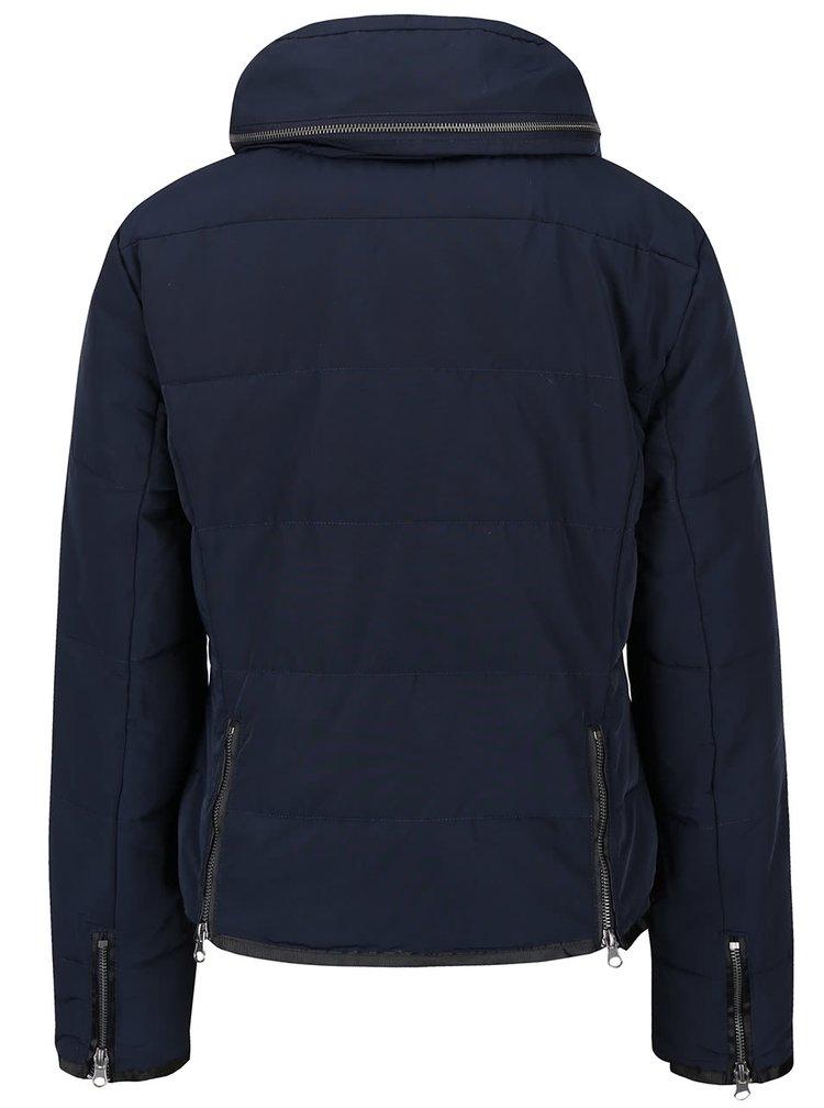 Tmavě modrá prošívaná bunda ICHI Snappi