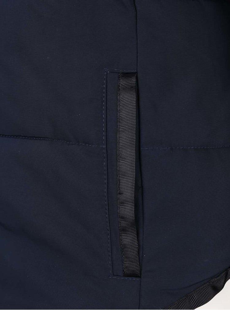 Tmavomodrá prešívaná bunda ICHI Snappi