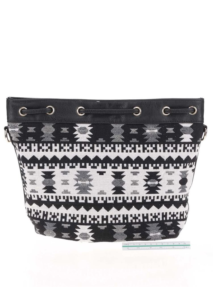 Krémovo-černá vzorovaná crossbody kabelka Haily´s Larissa