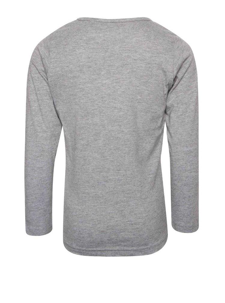 Sivé dievčenské tričko s dlhým rukávom Blue Seven
