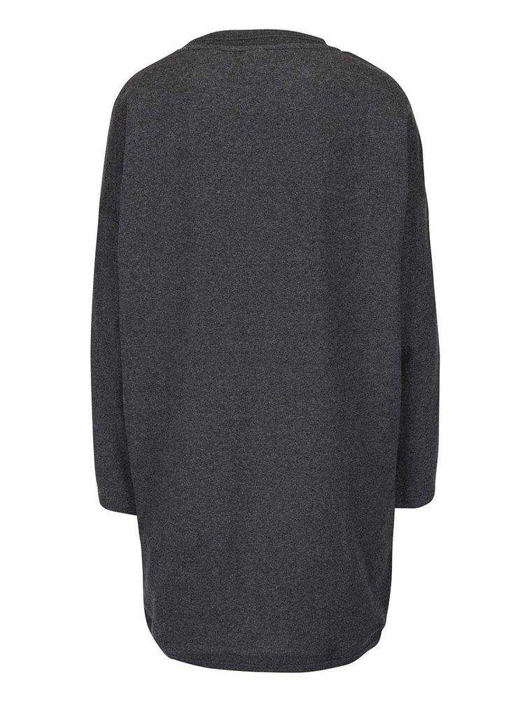 Sivé melírované mikinové šaty Bench Token