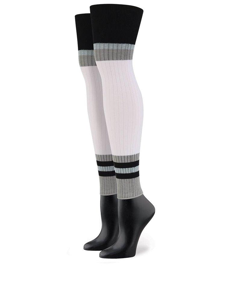 Čierno-biele dámske návleky s prúžkami Stance Footless
