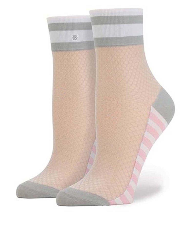 Ružovo-sivé dámske sieťované ponožky Stance Jersey Mesh