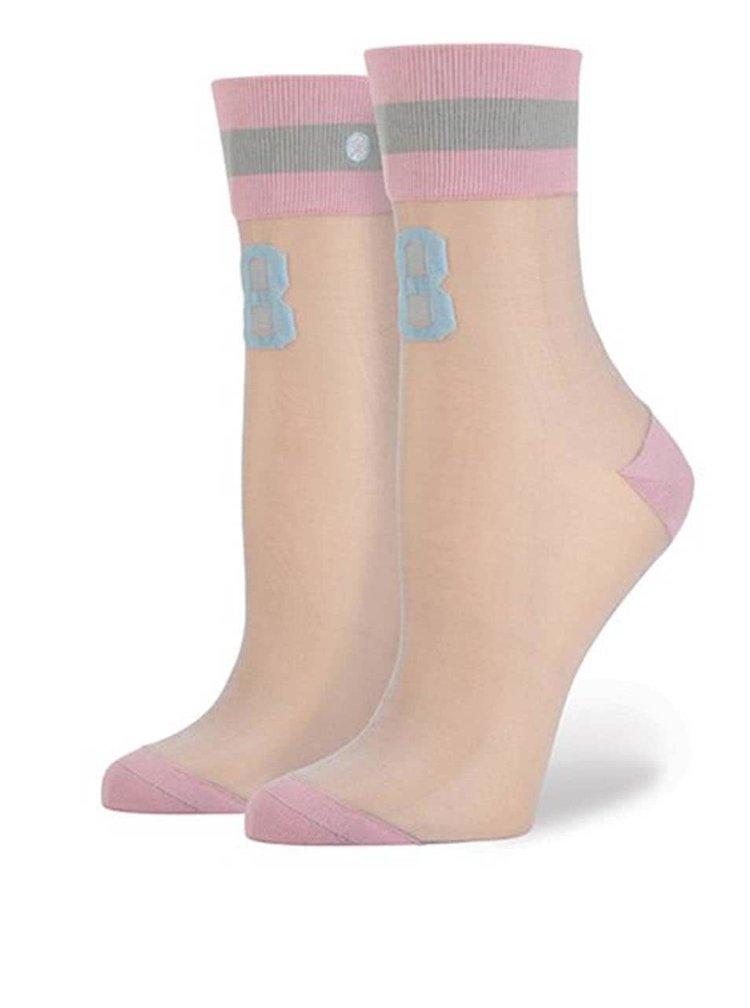 Ružové dámske ponožky s číslom Stance Number