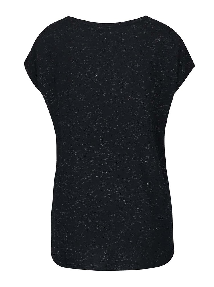 Černé tričko ICHI Lenisa