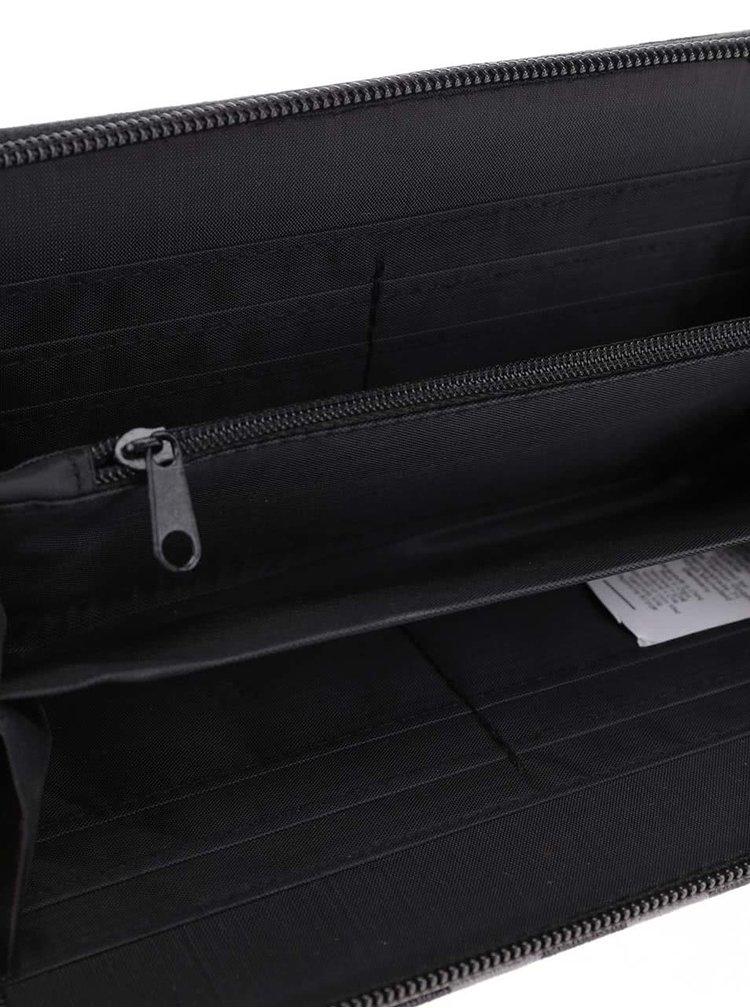 Čierno-sivá pruhovaná peňaženka Haily's Stripes