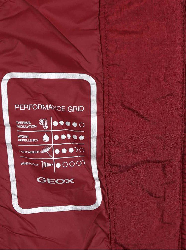 Geacă vișinie matlasată impermeabilă Geox