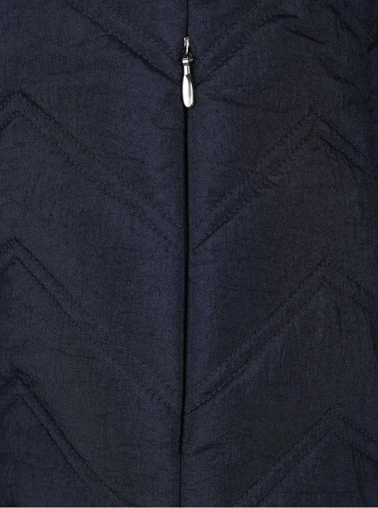 Tmavě modrá dámská prošívaná bunda Geox