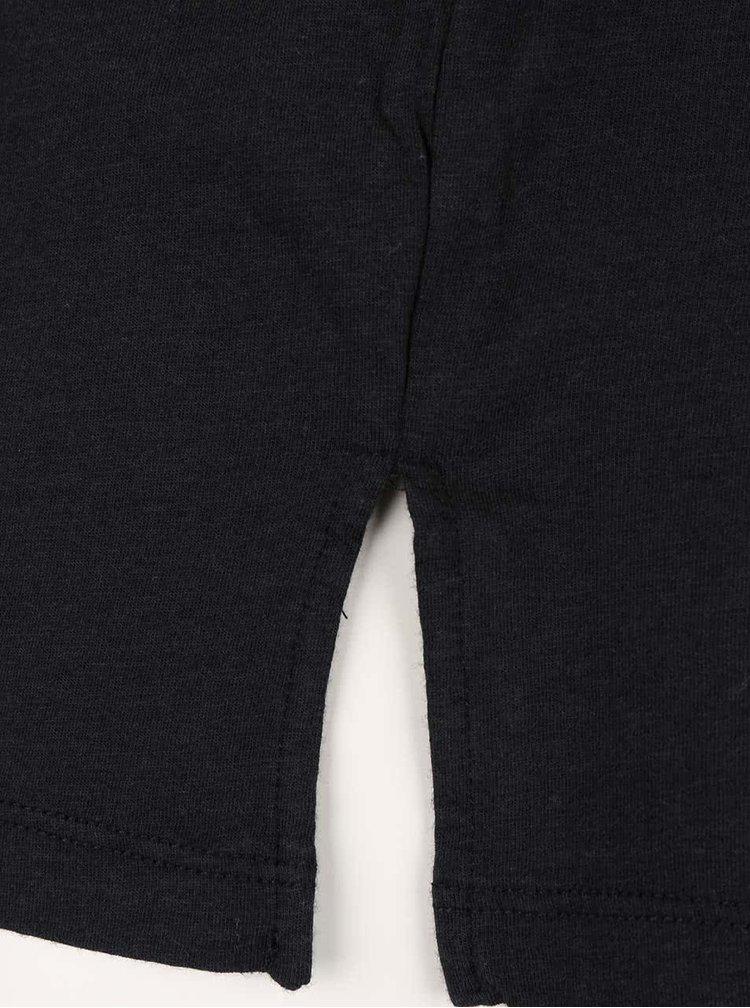 Tricou negru Bench Prosaic cu print cu logo