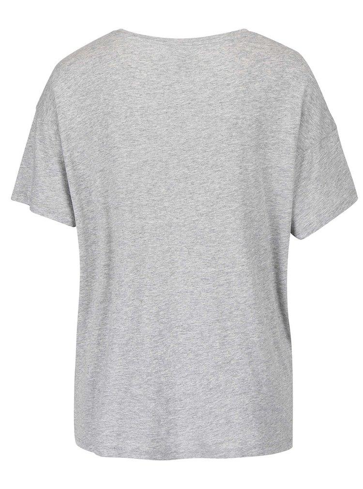Šedé žíhané dámské tričko s nápisem Bench Prosaic