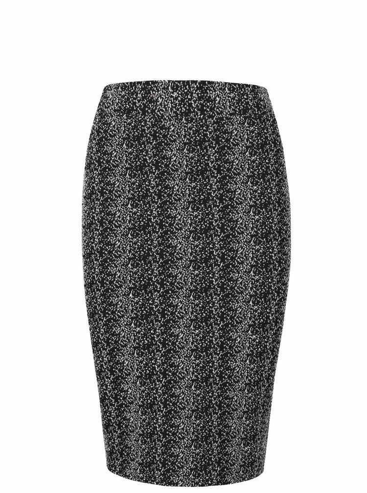 Bílo-černá žíhaná sukně ICHI Janta