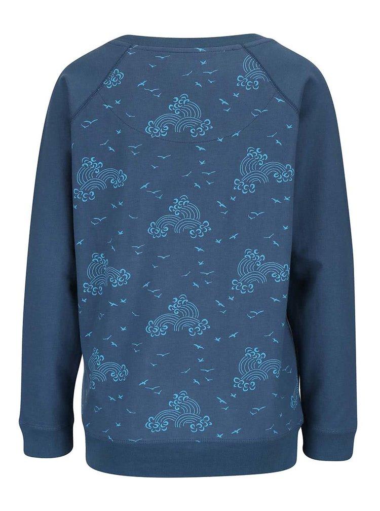 Bluză albastră Brakeburn Birds & Waves cu model