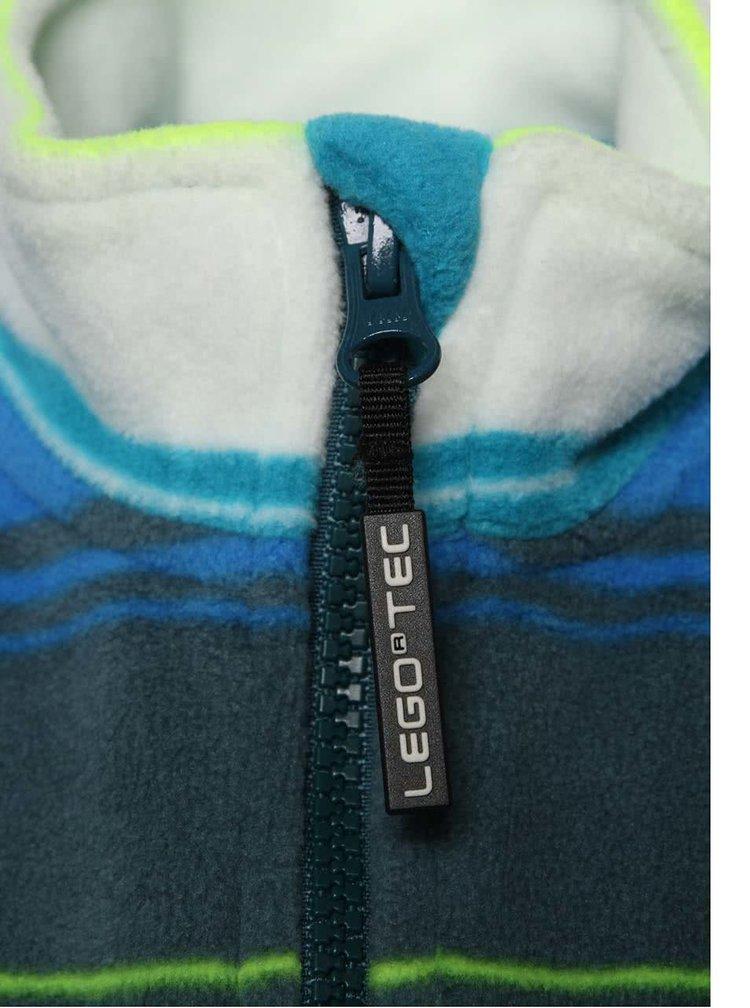 Šedo-modrá klučičí pruhovaná mikina LEGO Wear Skeet