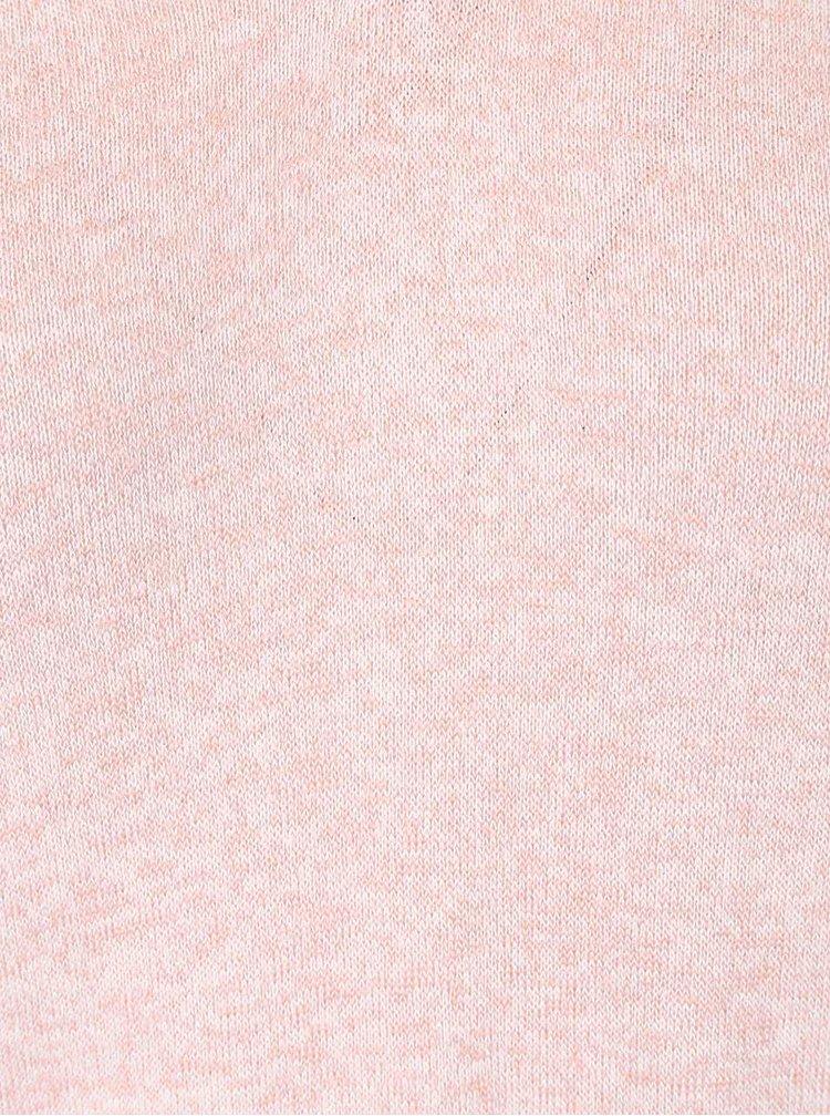 Světle růžové žíhané tričko s 3/4 rukávem TALLY WEiJL