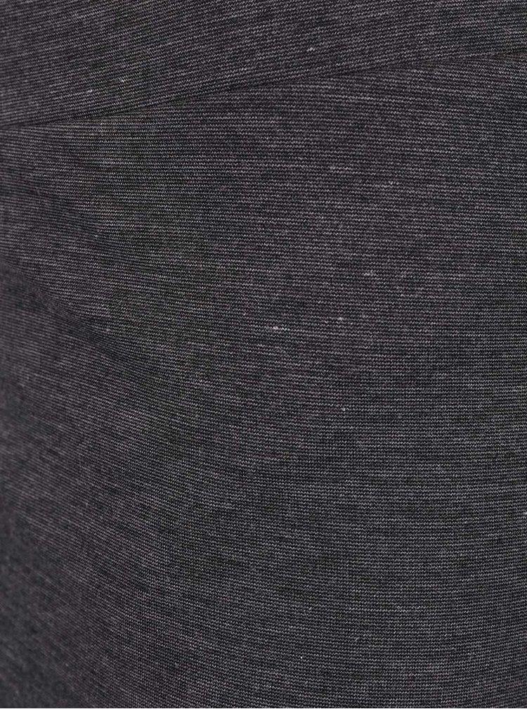 Tmavosivá prekladaná sukňa ICHI Mustang
