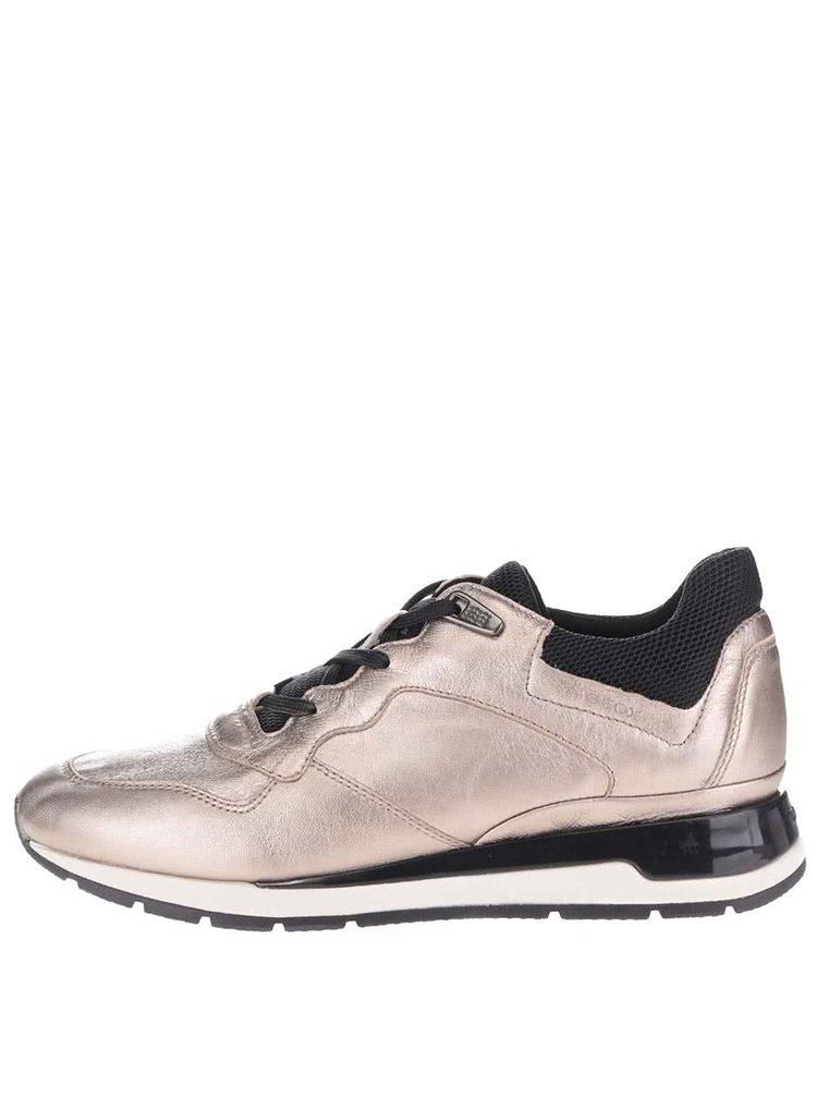 Metalické dámské kožené tenisky Geox Shahira