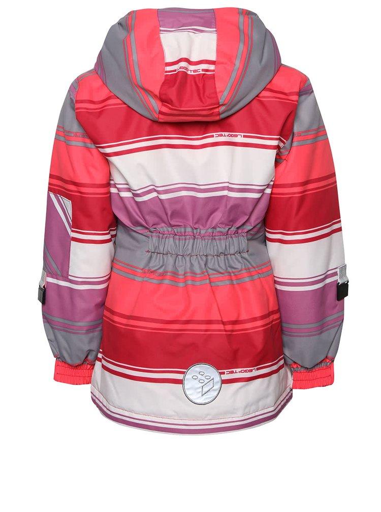 Krémovo-ružová dievčenská pruhovaná bunda LEGO Wear Jenay