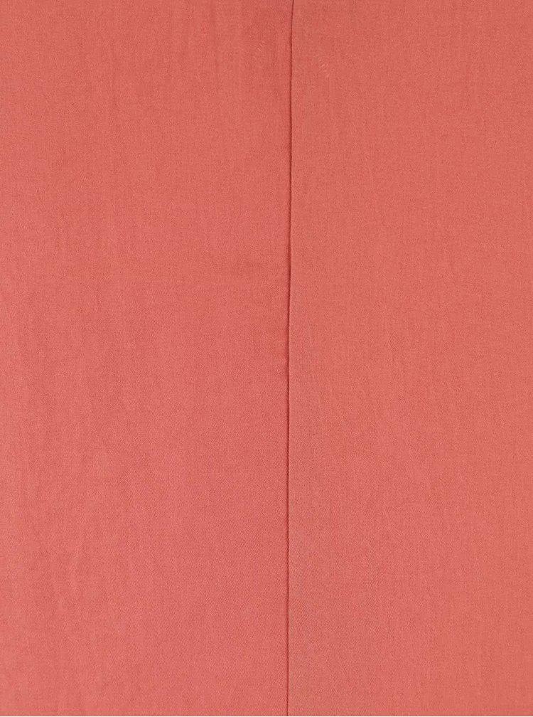 Ružová lesklá blúzka bez rukávov ICHI Classy