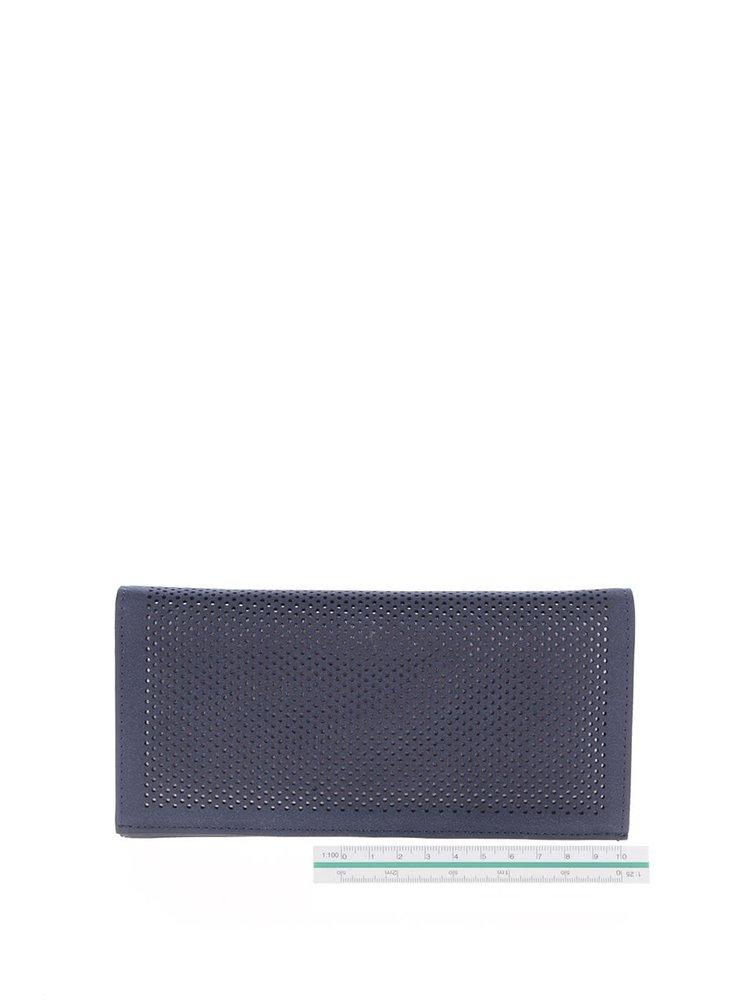 Portofel albastru Gionni Suellen cu perforații