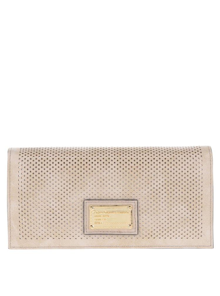 Béžová dámská brogue peněženka Gionni Suellen