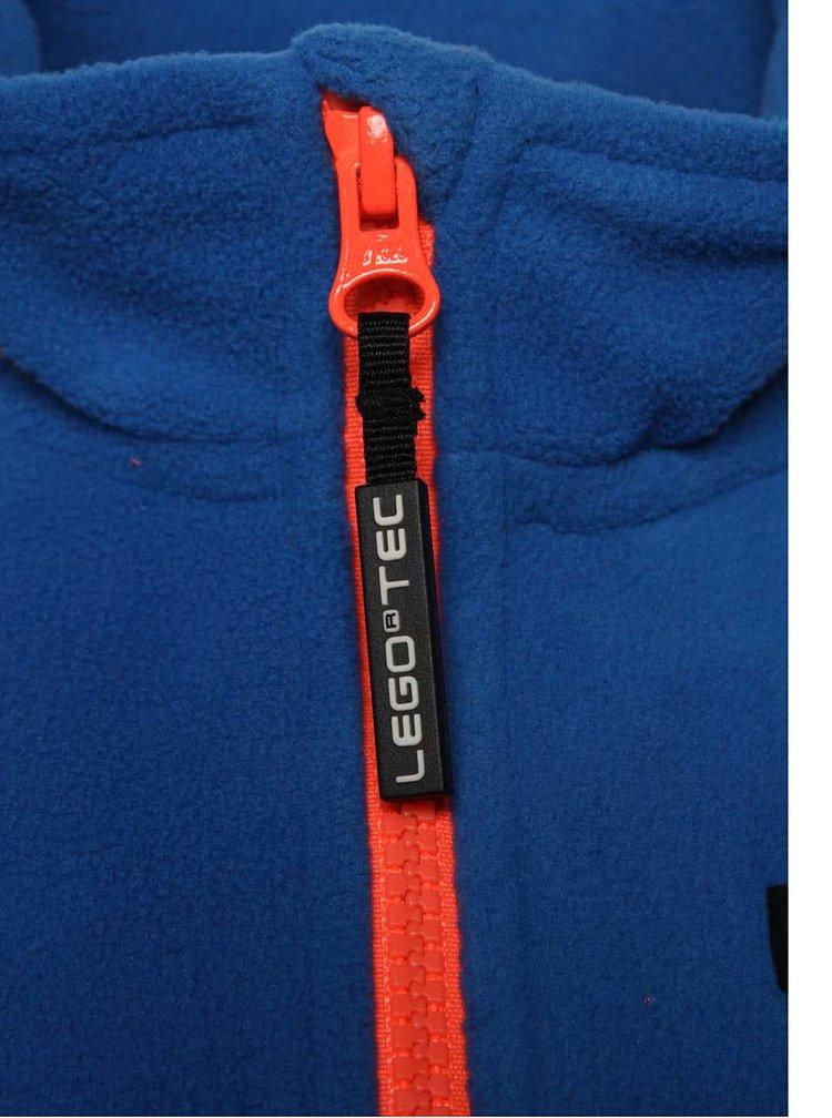 Modrá klučičí fleecová mikina LEGO Wear Skeet