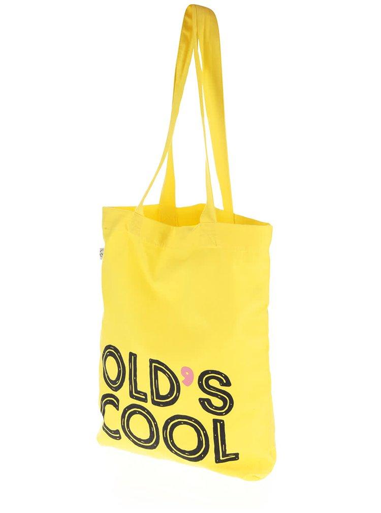 """""""Dobrá"""" žltá plátenná taška Elpida"""
