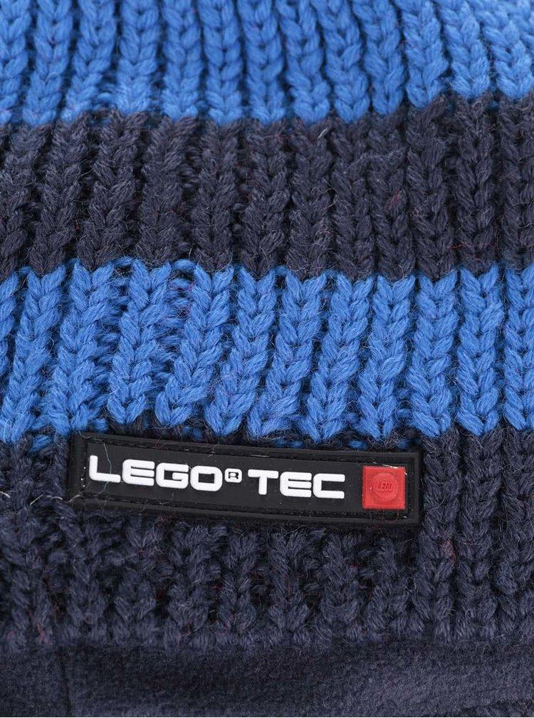 Modrý klučičí pruhovaný kulich LEGO Wear Ace
