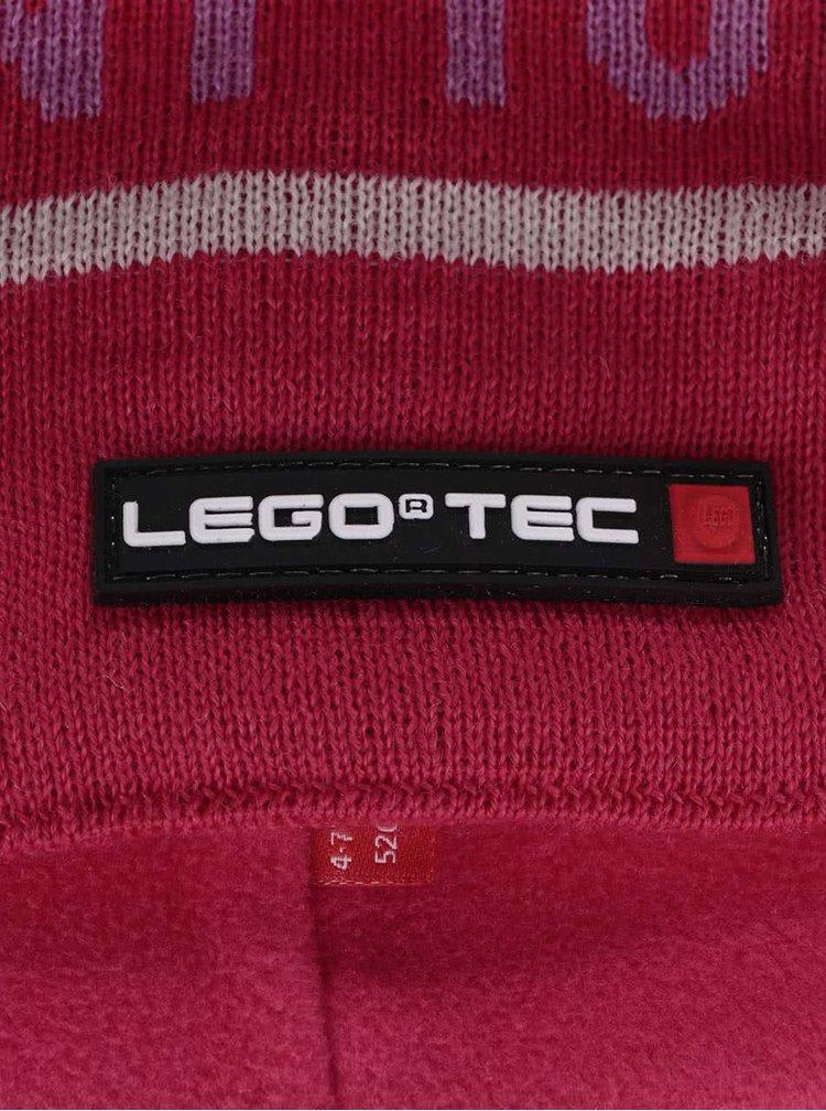 Tmavě růžový holčičí kulich LEGO Wear Ace