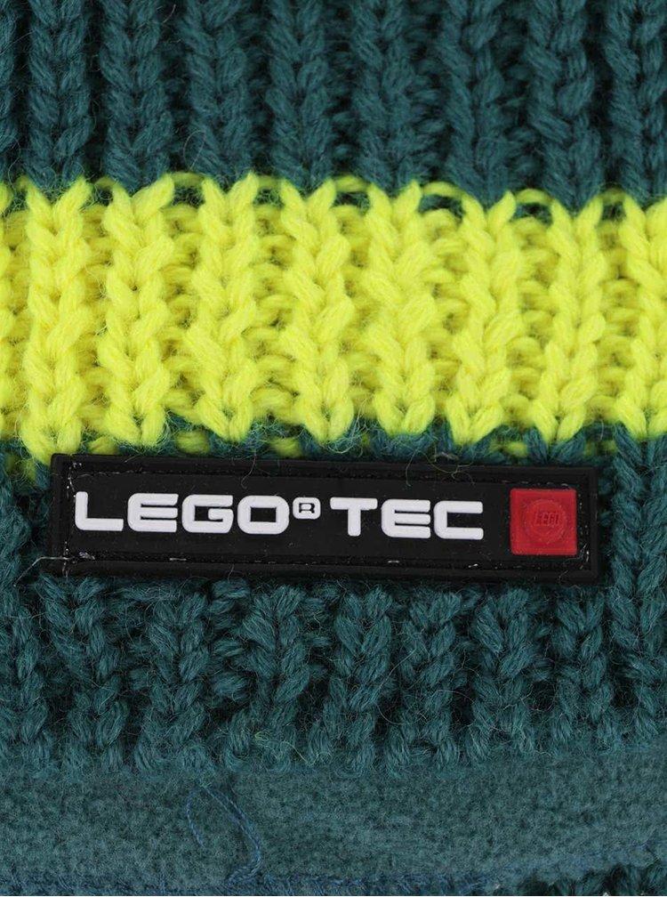 Žluto-zelený klučičí pruhovaný kulich LEGO Wear Ace