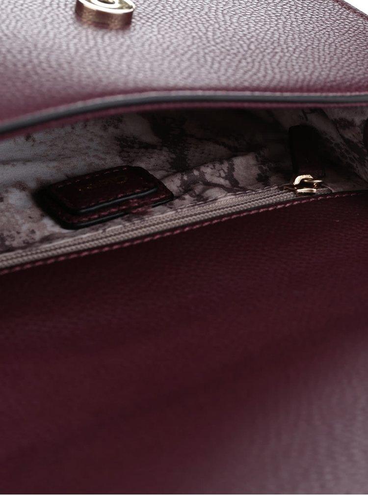 Vínová crossbody kabelka s detaily ve zlaté barvě Gionni Tatiene