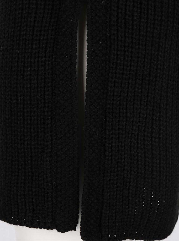 Čierny dlhší sveter bez rukávov s rolákom Haily's Diana