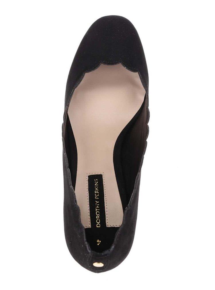 Pantofi cu toc negri Dorothy Perkins