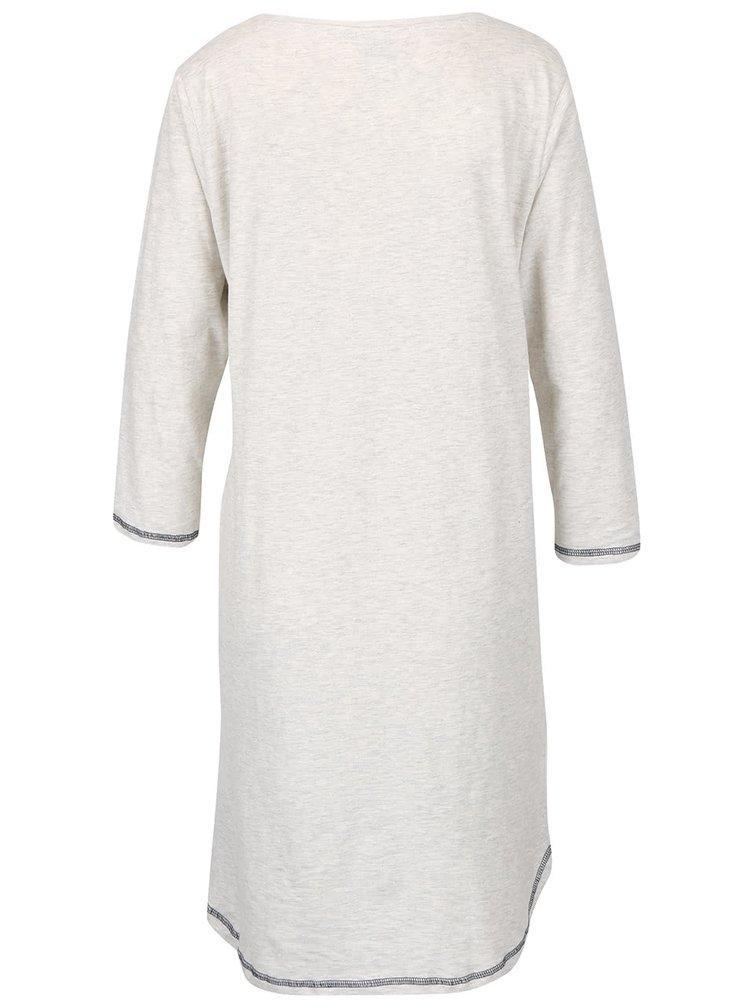 Krémová žíhaná noční košile s potiskem Dorothy Perkins