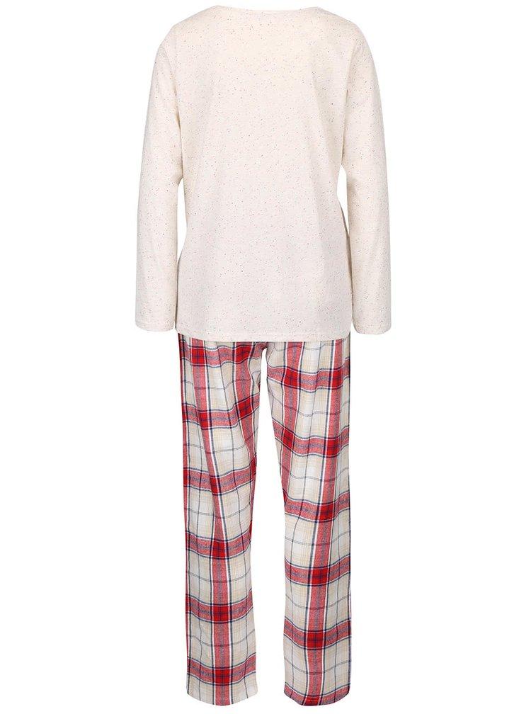 Červeno-krémové pyžamo s plyšovým psem Dorothy Perkins