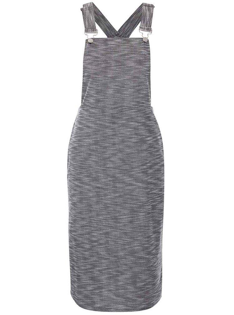 Sivé melírované šaty s trakmi Dorothy Perkins