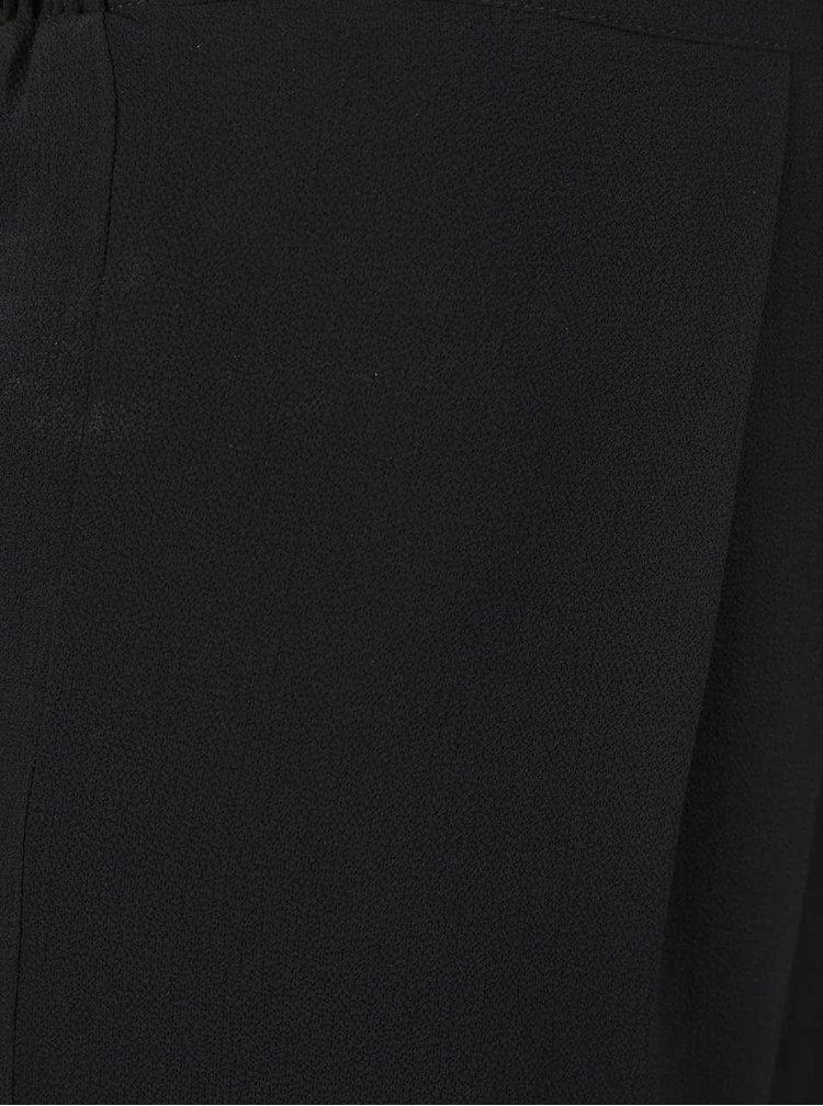 Černé culottes s pružným pasem Dorothy Perkins