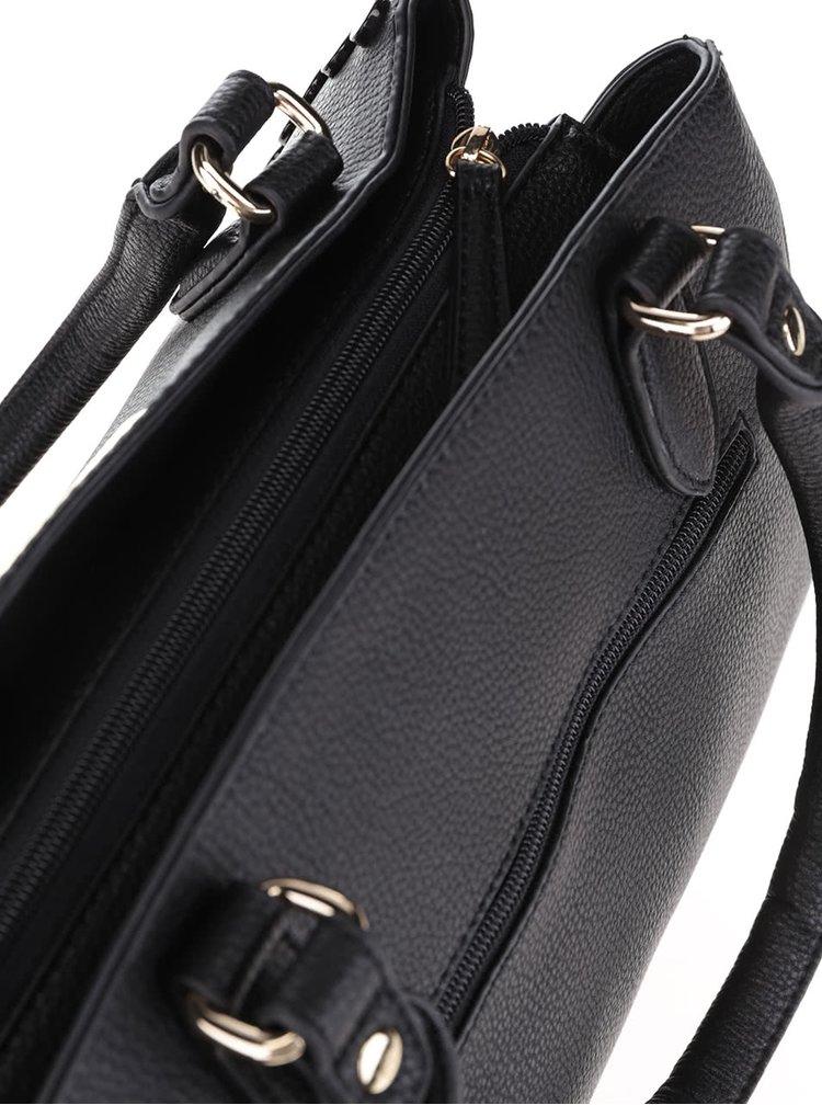 Geantă neagră Gionni Estella cu aplicații metalice