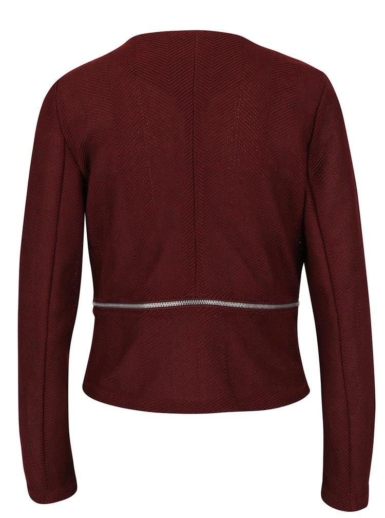 Jachetă vișinie din tricot VERO MODA Structure