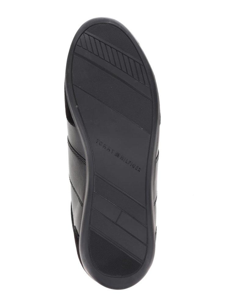 Černé pánské kožené tenisky se semišovými detaily Tommy Hilfiger