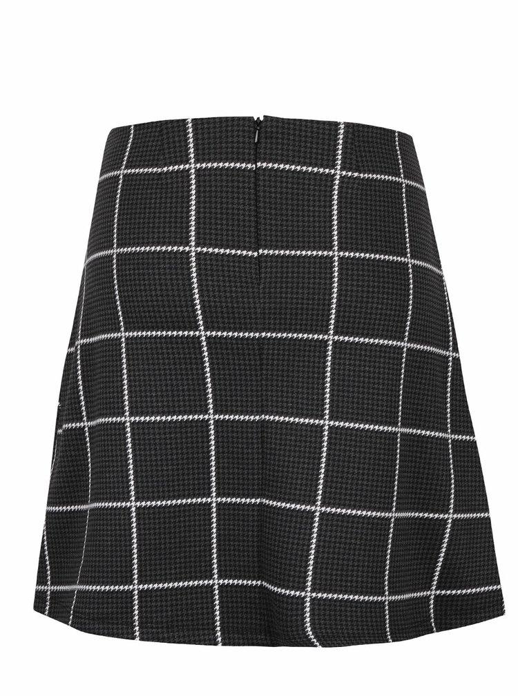 Tmavě šedá kostkovaná sukně s kapsami Dorothy Perkins