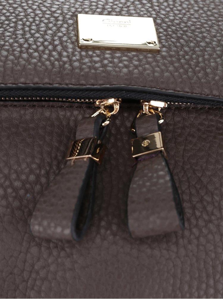 šedohnědá kabelka s klopou Gionni Peyton