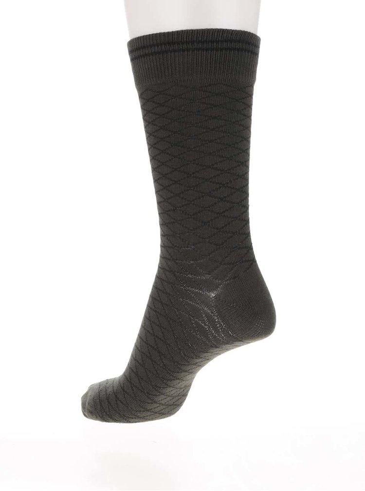 Súprava štyroch zelených, kaki, a modrých ponožiek Jack & Jones Fibers