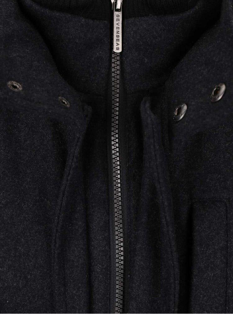 Tmavosivý pánsky kabát Seven Seas