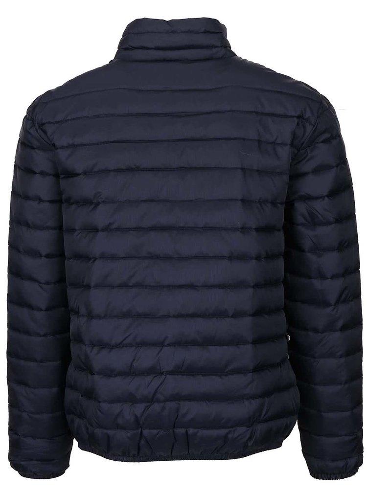 Tmavomodrá pánska prešívaná bunda s kapucňou Seven Seas