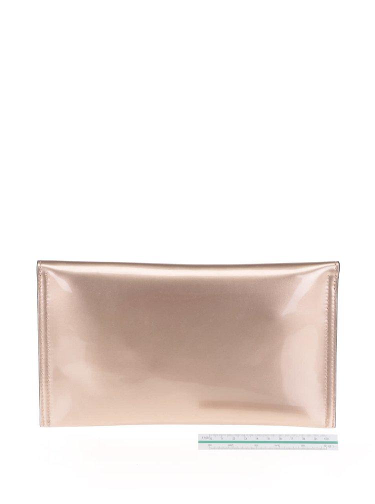 Geanta plic de culoarea bronzului Gionni Luciana
