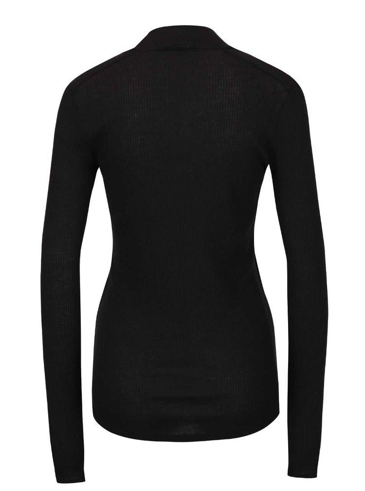 Čierne tričko s dlhým rukávom gsus