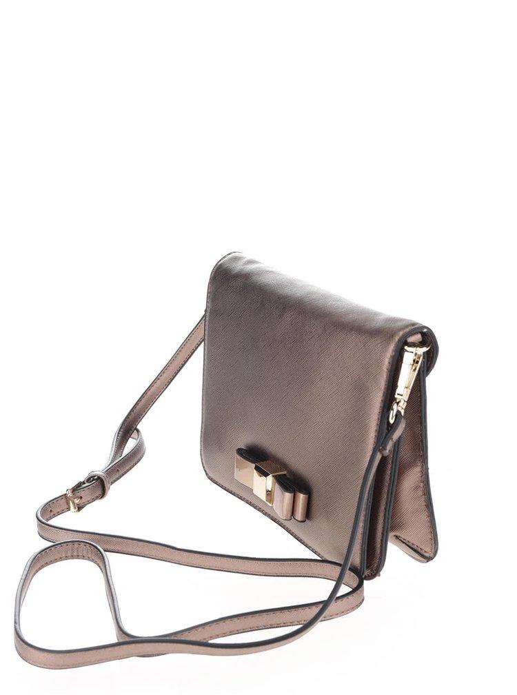Crossbody kabelka v bronzové barvě s mašlí Gionni Sora