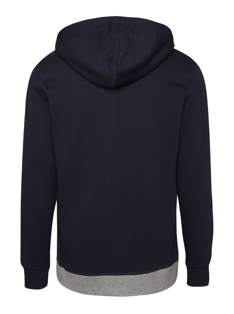 Hanorac gri-albastru Jack & Jones Bit