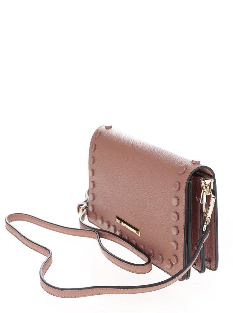 Starorůžová crossbody kabelka s plastovými detaily Gionni Estella